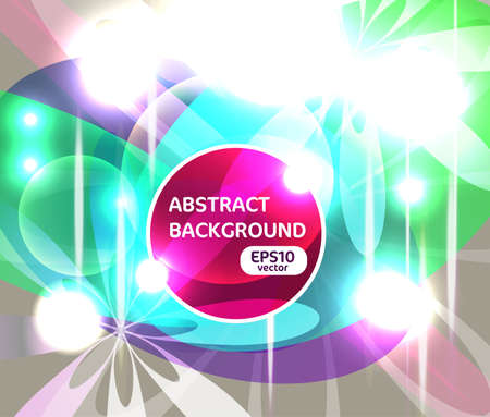 Abstract vector background with multicolor light shapes Stock Vector - 13652858