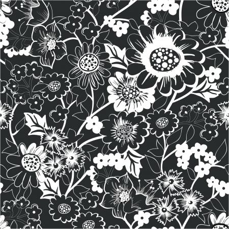 Seamless vector floral texture Vector