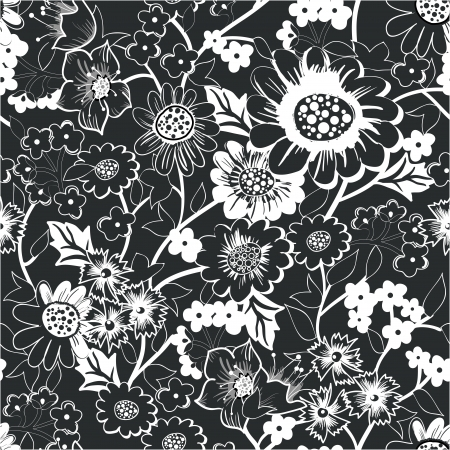 indian summer: Seamless vector floral texture Illustration