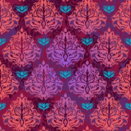 papel tapiz turquesa: Textura vector retro sin fisuras con el patr�n de color lila