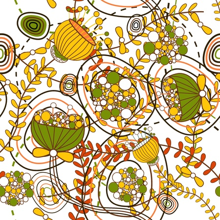 poppy pattern: Seamless vector pattern with drawing flowers Illustration