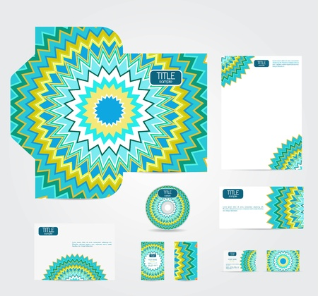 Vector corporate style with abstract pattern Vector