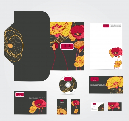 VEctor corporate style with multicolor flowers Vector
