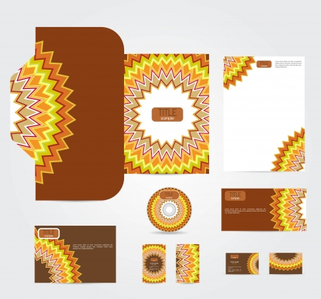 corporate style with abstract pattern Vector