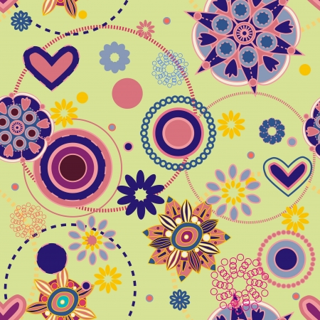 Seamless pattern with drawing flowers Stock Vector - 14337103