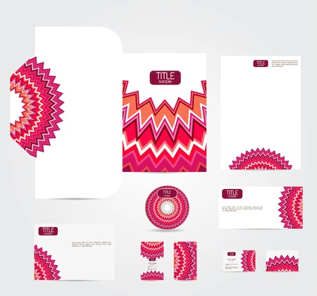 letterhead: Corporate style with abstract pattern