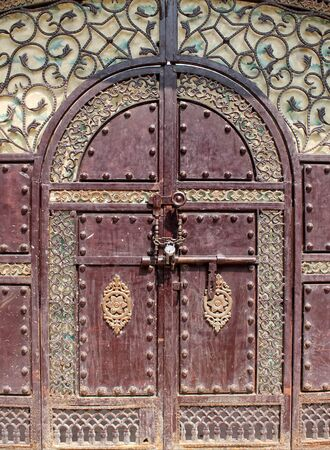 Photo with old decorative door in indian style Stock Photo - 14721650
