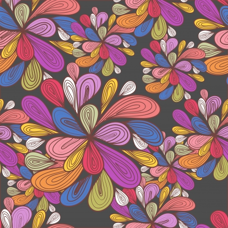 Abstract seamless pattern with bright drawing multicolor drops Vector