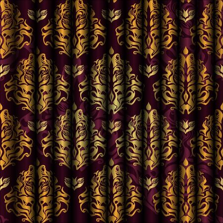 purple silk: Abstract  seamless background with original pattern Illustration