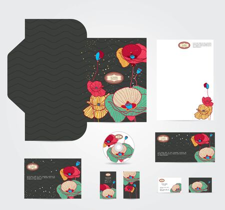 corporate style with multicolor flowers Vector