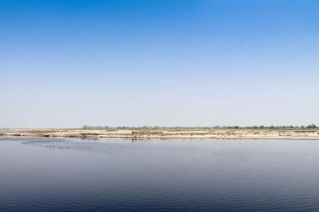 Photo with Yamuna river in India photo