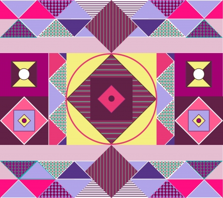 Seamless vector texture with bright tribal pattern Vector