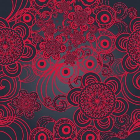 east indian: Textura vector sin fisuras Brillante