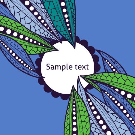stylize: background with stylize leafs