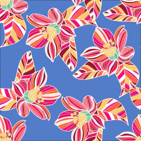 Seamless  texture with drawing flowers Stock Vector - 16416168