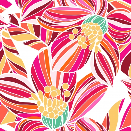 Seamless texture with drawing flowers Illustration
