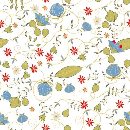 sem costura: Textura floral sem emenda com o desenho de flores pequenas