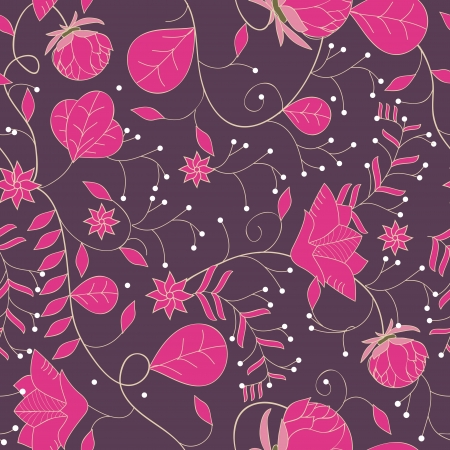 Seamless floral texture with drawing small flowers Vector