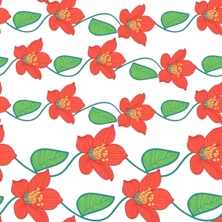 Seamless texture with drawing flowers Stock Vector - 16416414