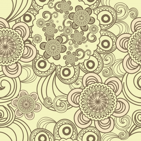 Seamless indian texture with tribal pattern Vector