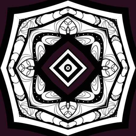 symmetrical ornamental mandala Vector