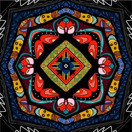 symmetrical ornamental mandala