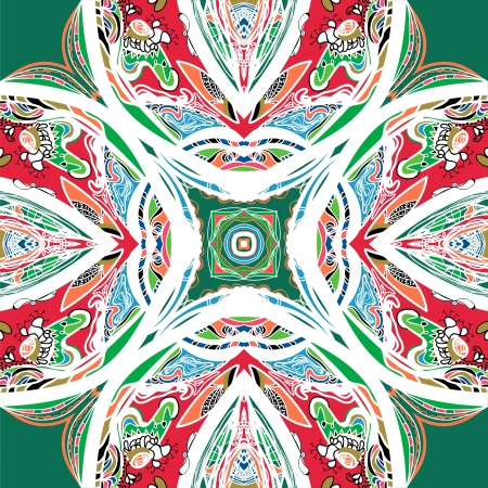 symmetrical ornamental mandala Vector