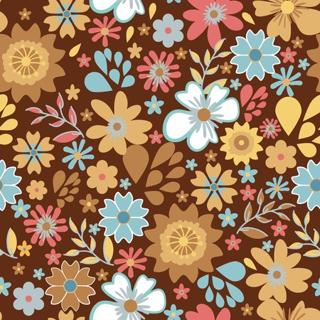 Seamless texture with small bright flowers Stock Vector - 16415675