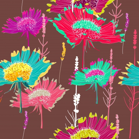 Seamless  texture with flowers Stock Vector - 16416832