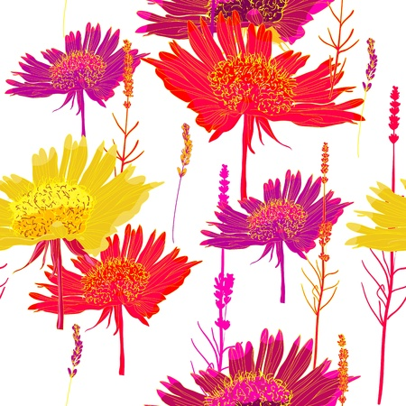 Seamless  texture with flowers Stock Vector - 16416834