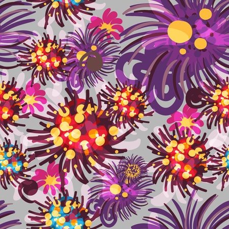 Seamless  texture with abstract flowers Stock Vector - 16416171