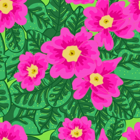 fabric art: Seamless vector texture with drawing flowers