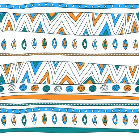 Seamless vector texture with tribal pattern Stock Vector - 16534763