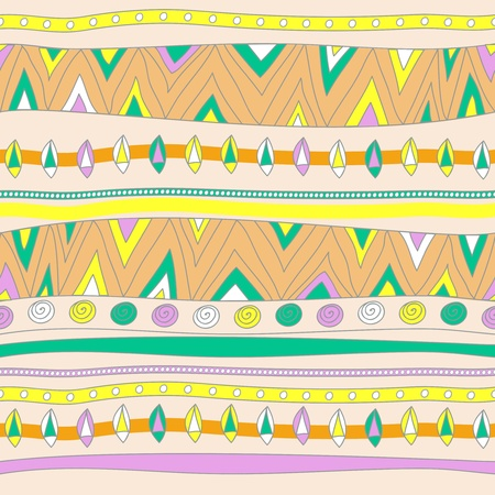 Seamless vector texture with tribal pattern Stock Vector - 16534765