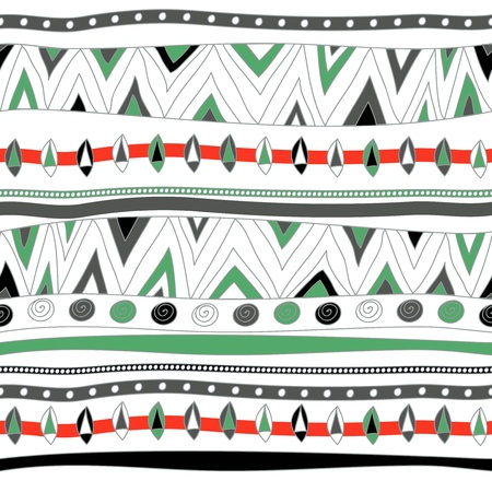 Seamless vector texture with tribal pattern Stock Vector - 16534769