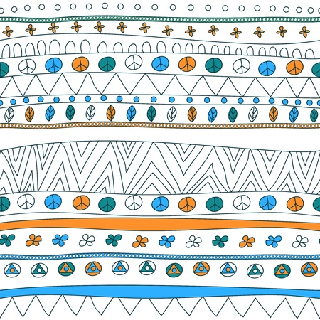 Seamless vector texture with tribal pattern Stock Vector - 16534785
