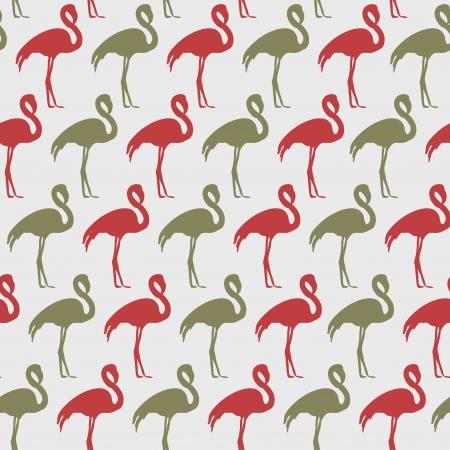 flamingi: Bright szwu wektora flamingów Ilustracja