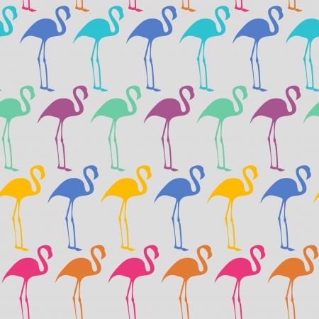 flamingi: Bright szwu wektora flaming
