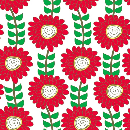 Seamless vector texture with drawing flowers Stock Vector - 16534833