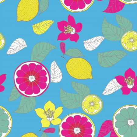 Bright seamless vector pattern with lemons Stock Vector - 16534929
