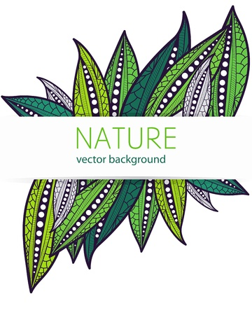 stylize: Vector background with stylize leafs