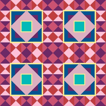 Seamless vector texture with abstract geometric pattern Vector