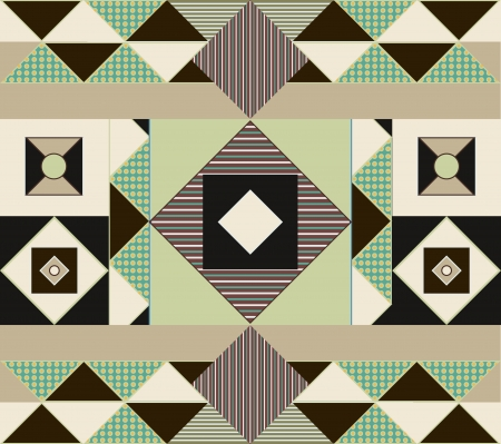 ethno: Seamless vector texture with abstract geometric pattern Illustration