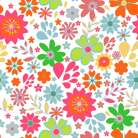 Seamless vector texture with small bright flowers Stock Vector - 16534770