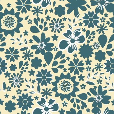 Seamless vector texture with small bright flowers Stock Vector - 16534767