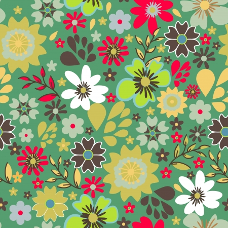 Seamless vector texture with small bright flowers Stock Vector - 16534778