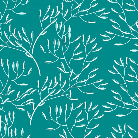 Seamless vector texture with abstract floral branch Stock Vector - 16534756