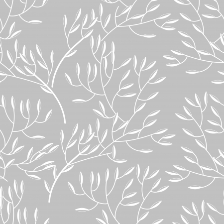 Seamless vector texture with abstract floral branch