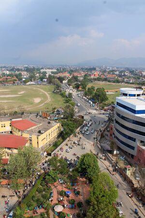 cramped space: Kathmandu. Top view.