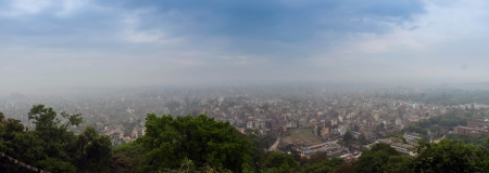 kathmandu: Big panorama with Kathmandu city